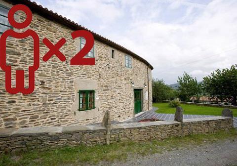 Entre viñedos - Casa da Igrexa para 2