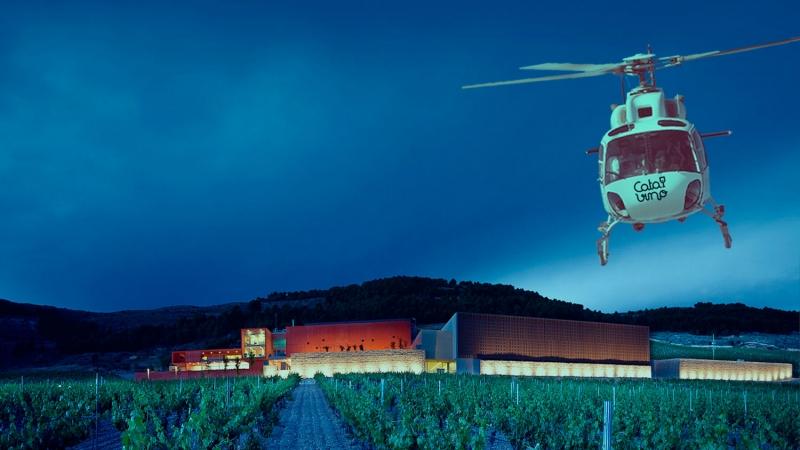 Enoturismo en helicóptero a Pago de Carraovejas.