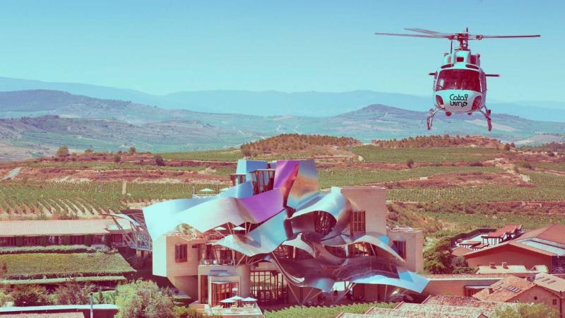 Enoturismo en helicóptero a Marqués de Riscal.