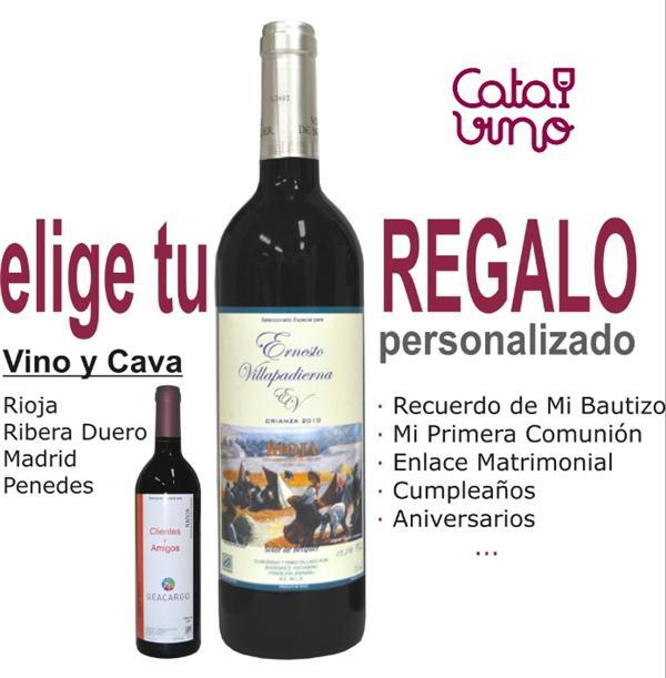 Botellas De Vino Para Regalar En Bautizos.Un Regalo Personalizado Es Realmente Algo Especial
