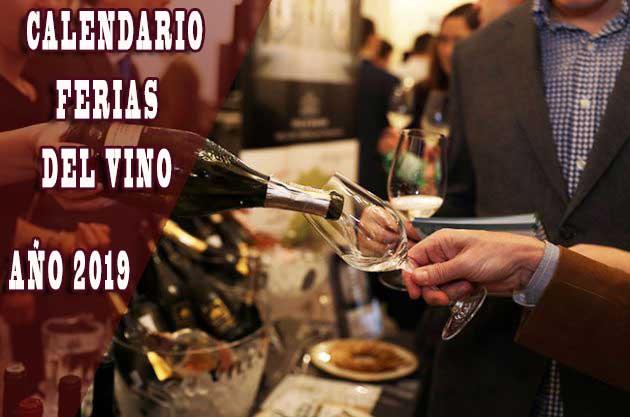 ¿Qué Ferias del Vino se celebrarán en España durante el año 2019?