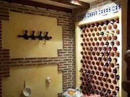 Buscando refugio para el vino en casa.
