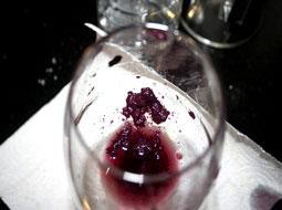 Los posos en los vinos.